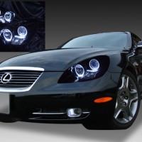 レクサス SC430 純正HID車用 車種別専用 純正ドレスアップヘッドライト 4連LEDイカリング&インナーブラッククロム 仕様