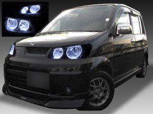 ホンダ JB3/4 ライフダンク 全年式 純正ドレスアップヘッドライト 4連LEDイカリング&ウインカークリア化&インナーブラッククロム