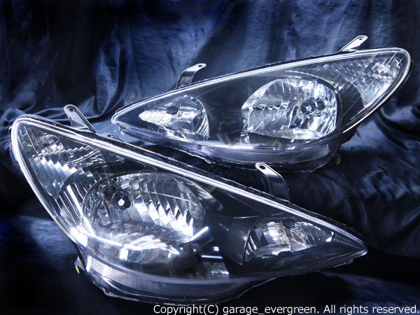 トヨタ 30/40系 エスティマ 前期 純正HID車用 純正ドレスアップヘッドライト アエラス ブラックインナーベース ウィンカークリア