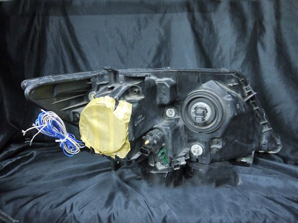 ホンダ RR1/RR2/RR5/RR6 エリシオン プレステージ 前期/後期 純正HID用 AFS無し車用 純正ドレスアップヘッドライト 4連LEDイカリング&高輝度白色LED18発増設&高輝度橙色LED18発増設&インナーブラッククロム