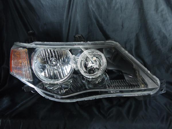 三菱 CW5W/CW4W アウトランダー 後期 純正HID仕様車 純正ドレスアップヘッドライト 4連LEDイカリング&高輝度白色LED6発増設
