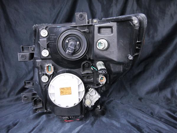 日産 E51系 エルグランド 中期/後期 純正HID車 AFS仕様車用 純正ドレスアップヘッドライト インナー塗装 ブラッククロム