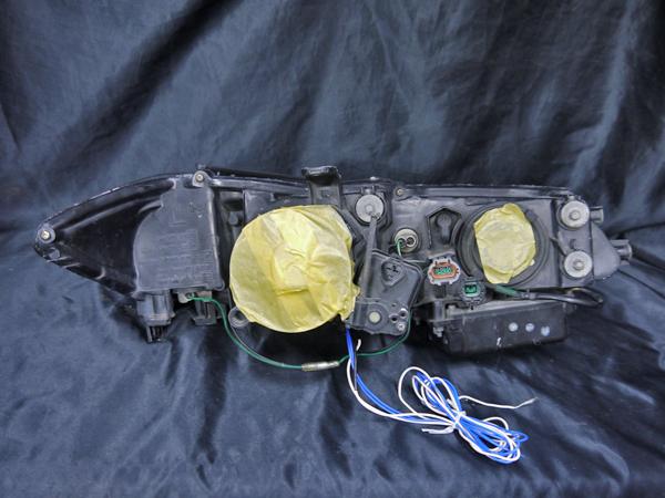 日産 S15 シルビア 純正HID車用 純正ドレスアップヘッドライト 4連LEDイカリング&インナーブラッククロム