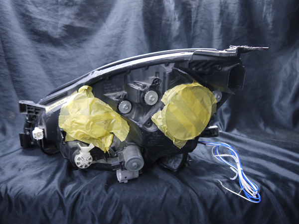 レクサス SC430 純正HID車用 純正ドレスアップヘッドライト 4連LEDイカリング&インナーブラッククロム