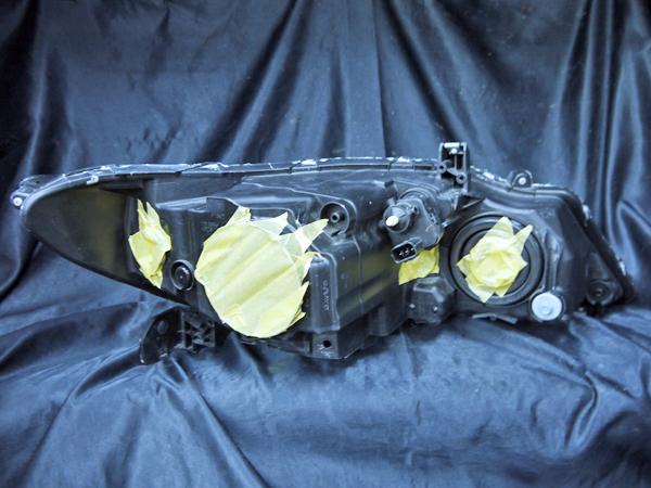 ホンダ RB3/RB4 オデッセイ 純正ドレスアップヘッドライト インナー塗装 ブラッククロム