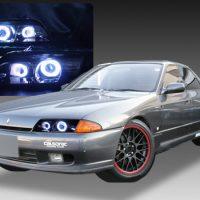 日産 R32 スカイライン/GT-R GTS 前期/後期 純正ドレスアップヘッドライト 4連CCFLイカリング&バイキセノンプロジェクターダブルインストール日産 R32 スカイライン/GT-R GTS 前期/後期 純正ドレスアップヘッドライト 4連CCFLイカリング&バイキセノンプロジェクターダブルインストール&インナーブラッククロム&インナーブラッククロム