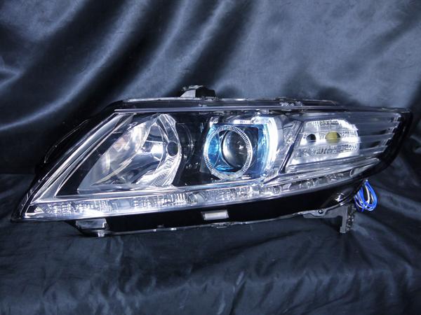 ホンダ ZF1/ZF2 CR-Z 前期/後期 純正HID車用 車種別専用 純正ドレスアップヘッドライト LEDイカリング&高輝度白色LED14発増設&高輝度橙色LED8発増設