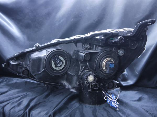 トヨタ NHP10 アクア前期 純正ハロゲン車用 純正ドレスアップヘッドライト 4連LEDイカリング&高輝度白色LED12発増設&インナーブラッククロム