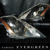 日産 Z50系 ムラーノ 純正ドレスアップヘッドライト インナー塗装 ブラッククロム