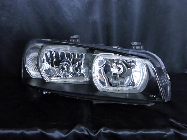 日産 R34系 GT-R/スカイライン 前期  純正ドレスアップヘッドライト 純正HID・レべライザー有 車用 4連白色LEDス日産 R34系 GT-R/スカイライン 前期  純正ドレスアップヘッドライト 純正HID・レべライザー有 車用 4連白色LEDスクエアイカリングクエアイカリング