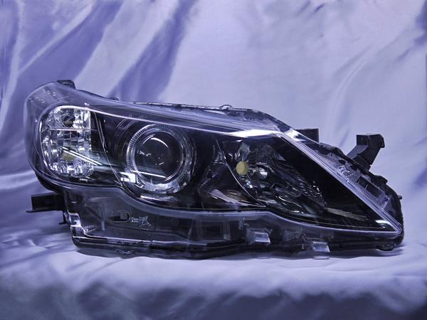 f-171 130系 マークX 前期 純正ドレスアップヘッドライト 2連LEDイカリング&高輝度白色LED12発増設&インナーブラッククロム 仕様