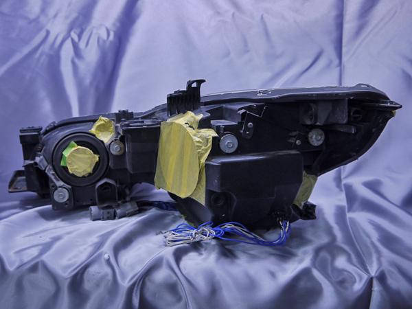 レクサス GRS/URS/GWS 19系 GS 前期/後期 純正ドレスアップヘッドライト  純正HID・AFS有・レべライザー有 車用  4連LEDイカリング&高輝度白色LED24発増設&高輝度橙色LED12発増設&インナーブラッククロム