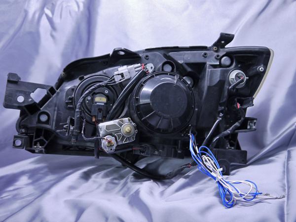 f-173 スバル GH/GR/GV/GE系 インプレッサ 全年式 純正ドレスアップヘッドライト LEDイカリング&高輝度白色LED12発増設&LEDアクリルイルミファイバー