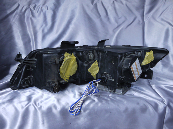 ホンダ CL7/8/9 CM2/3 アコード/アコードワゴン6連LEDイカリング&高輝度白色LED12発増設&ウィンカークリア