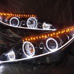 50系エスティマ中期■シーケンシャルウインカー&4連LEDイカリング&アクリルイルミファイバー&白LED増設■ドレスアップヘッドライト