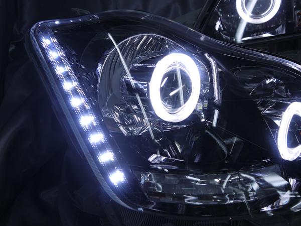 18系 クラウン ロイヤル Wプロジェクター移植&LED増設&インナーブラック塗装 仕様 オーダー加工 ドレスアップヘッドライト