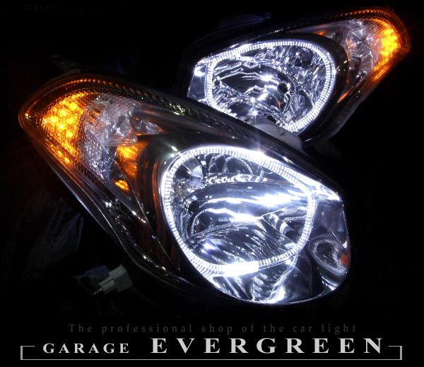 ヴェロッサ LEDイカリング&橙LED増設 オーダー加工 ドレスアップヘッドライト