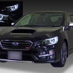 VM4/VMG レヴォーグ 前期 VAB/VAG WRX ドレスアップヘッドライト LEDイカリング&白LED16発増設&純正ポジション部色替え&インナーブラック塗装 仕様