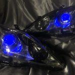 レクサス20IS前期中期ブルーアイ&ブルーLEDドレスアップヘッドライト