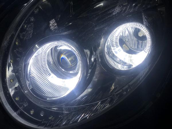 ワンオフ■L880K コペン シーケンシャルウインカー&白LED増設&LEDイカリング 純正ドレスアップヘッドライト