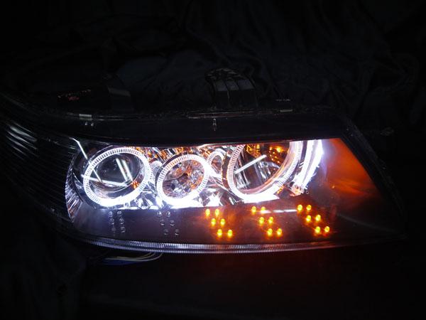 ワンオフ加工■CL/CM アコード シーケンシャルウインカー&LEDイカリング 仕様■純正ドレスアップヘッドライト