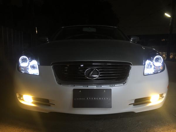 SC430 純正ドレスアップヘッドライト AFS有り 4連LEDイカリング&レンズコーティング加工