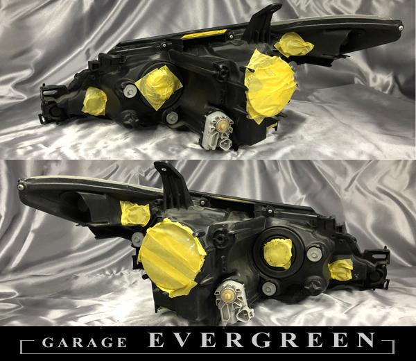 50系 エスティマ 中期 AFS無し車 ACR50W/55W GSR50W/55W 純正ドレスアップヘッドライト インナーブラック塗装&レンズコーティング加工済み