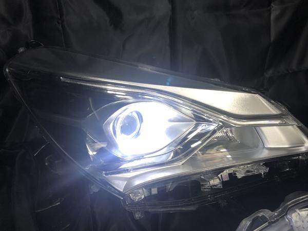 オーダー加工 130系 ヴィッツ 後期 NSP130/KSP130/NHP130 LEDイカリング&レンズコーティング加工済み 純正加工品 ドレスアップヘッドライト