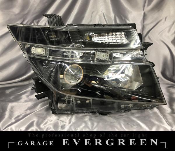 E52 エルグランド 前期 AFS有り車用 インナーブラック塗装&レンズコーティング加工済み 仕様 純正ドレスアップヘッドライト