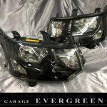 デリカ D5 前期 CV系 インナーブラック塗装&レンズコーティング加工済み 純正加工品 ドレスアップヘッドライト