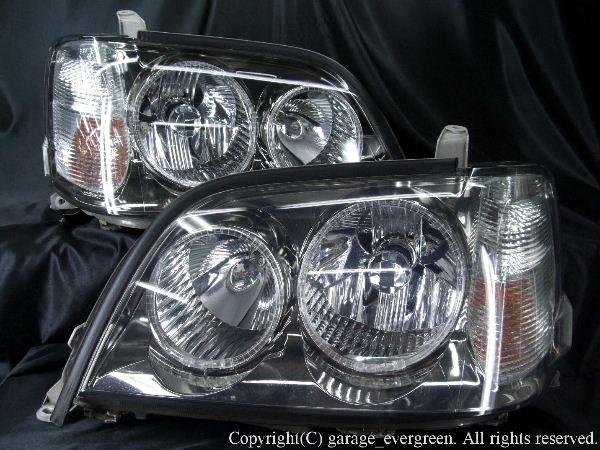 17系 クラウンアスリート ヘッドライト 4連イカリング&クリスタル&増設白橙LED仕様