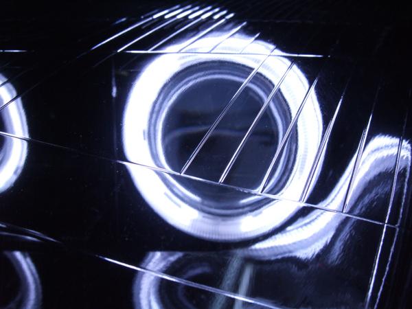 Z32 フェアレディZ 純正加工 ドレスアップヘッドライト インナーブラック塗装&Wプロジェクター移植&CCFLイカリング 仕様