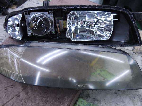 レンズ新品交換 R33 スカイライン 後期 キセノン GT-R 純正加工 ヘッドライト 交換・お取り付け