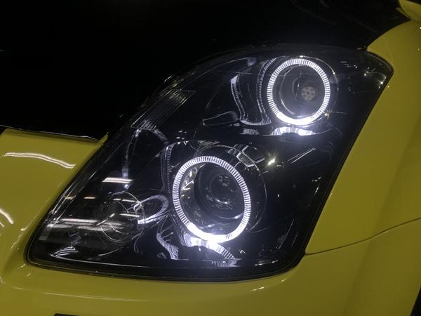 ZC31 スイフト スポーツ 純正加工 ドレスアップヘッドライト 純正HID用 ヘッドライト移植&お取り付け