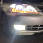 110系 マーク2 後期 LEDイカリング&クリア加工&LEDバルブ交換 純正加工 ドレスアップヘッドライト