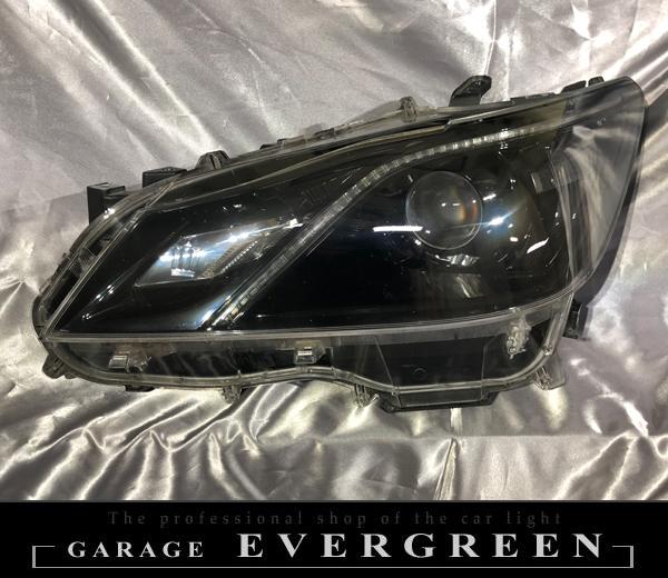 210系クラウン アスリート/ロイヤルサルーン 前期 AFS無し インナーフルブラック塗装&レンズコーティング済み 純正加工 ドレスアップヘッドライト