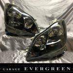 トヨタ GRS18系 クラウン アスリート 前期/後期 純正ドレスアップヘッドライト インナー塗装 ブラッククロム