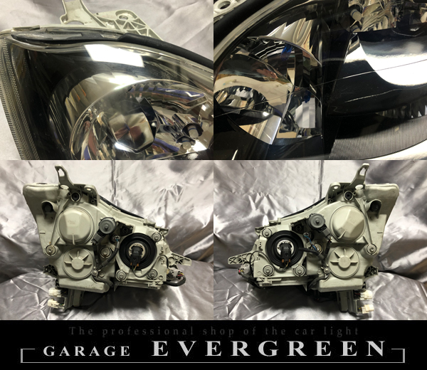 18系 クラウン アスリート/ロイヤルサルーン AFS有り車用 純正加工品ドレスアップヘッドライト インナーブラック塗装&レンズコーティング加工済み