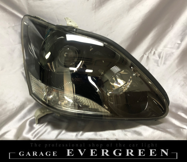 30系 セルシオ 後期 正ドレスアップヘッドライト インナーブラック塗装&レンズコーティング加工済み