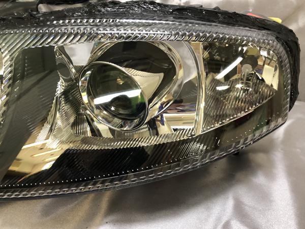 アルファロメオ 147 後期 インナーブラック塗装&レンズコーティング加工済み 仕様 純正加工 ドレスアップ ヘッドライト
