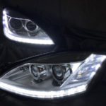 W221 Sクラス 後期 純正ポジション部 白LED色替え仕様 純正加工 ドレスアップ ヘッドライト