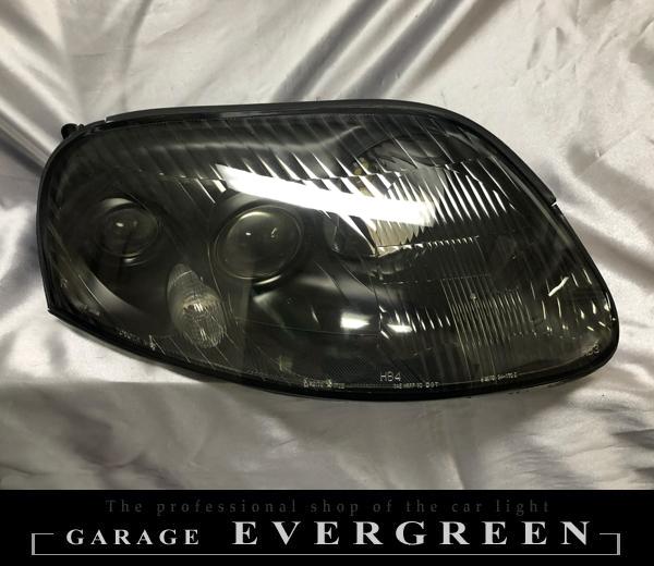 JZA 80系 スープラ 前期 純正ドレスアップヘッドライト インナー艶消しブラック塗装&レンズコーティング加工済み