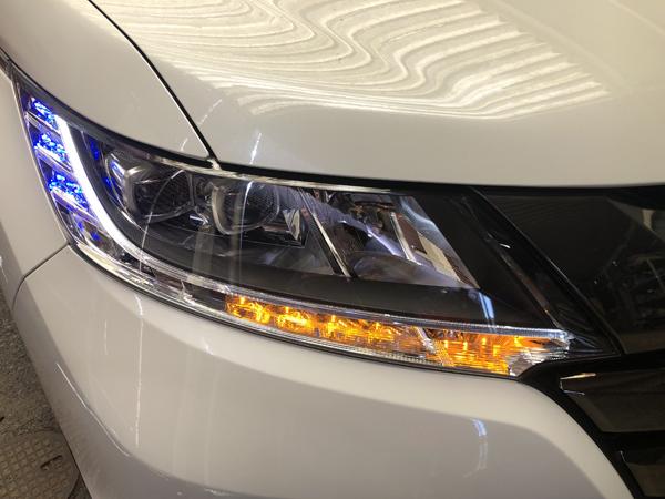 お取り付け RC オデッセイ シーケンシャルウインカー&白LED切り替え&青LED増設 仕様 純正加工 ドレスアップヘッドライト ワンオフ加工