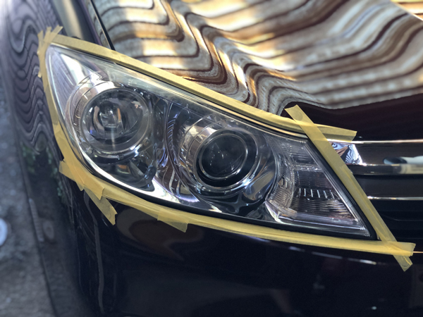 トヨタ AZK10 SAI 前期 純正ヘッドライト クリーニング&コーティング施工