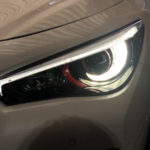 V37 スカイライン 前期/後期 インナーブラック&ワインレッド&ホワイト塗装 仕様 純正加工 ドレスアップ ヘッドライト
