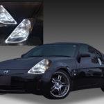 Z33 フェアレディZ 前期 純正加工 ドレスアップ ヘッドライト LEDイカリング&アクリルファイバー 仕様 【車検対応】