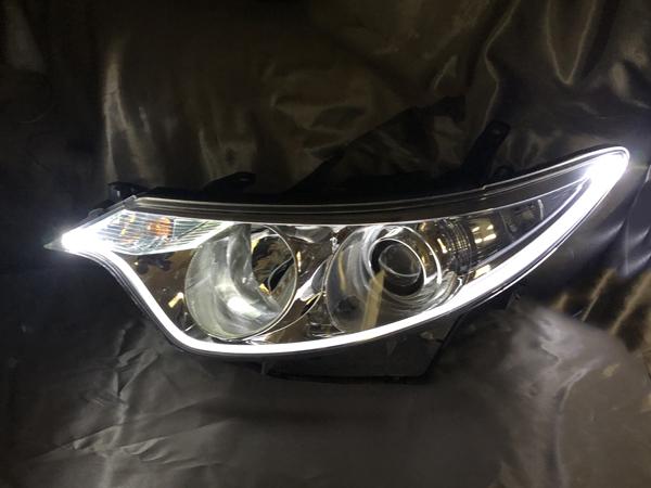 ワンオフ加工 50 エスティマ 前期 LEDアクリルファイバー 仕様 純正加工品 ドレスアップ ヘッドライト