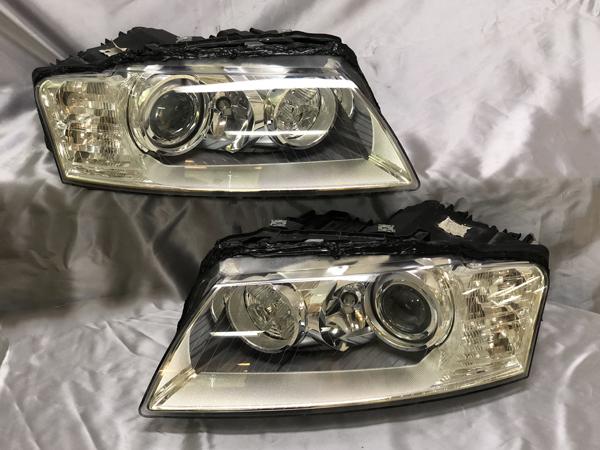 アウディ S8 後期型 純正ヘッドライト オーバーホール・内外クリーニング
