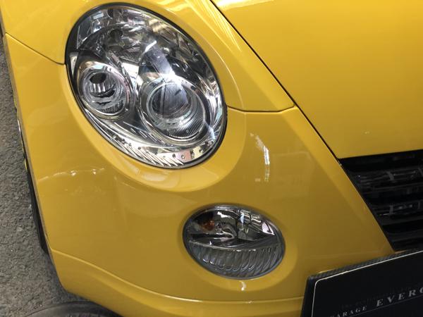 L800K コペン イカリング&LED増設 純正加工品 ドレスアップ ヘッドライト 取付け