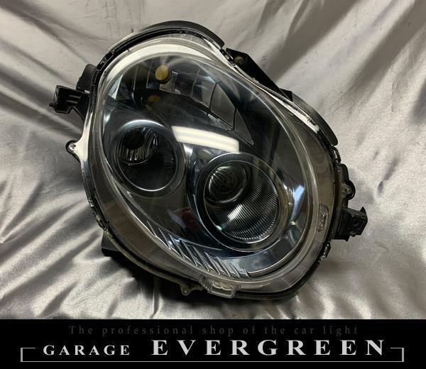 【車検対応】L880K コペン 前期/後期  インナークロームメッキ塗装&レンズコーティング加工済み 純正加工品 ドレスアップ ヘッドライト